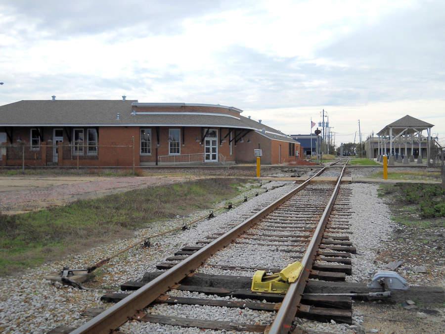 Vías de tren en Gulfport Train Depot