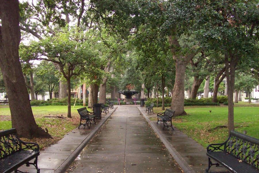 Bienville Square, parque histórico de la ciudad de Mobile