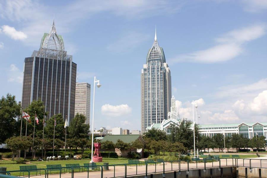 Vista panorámica de la ciudad de Mobile