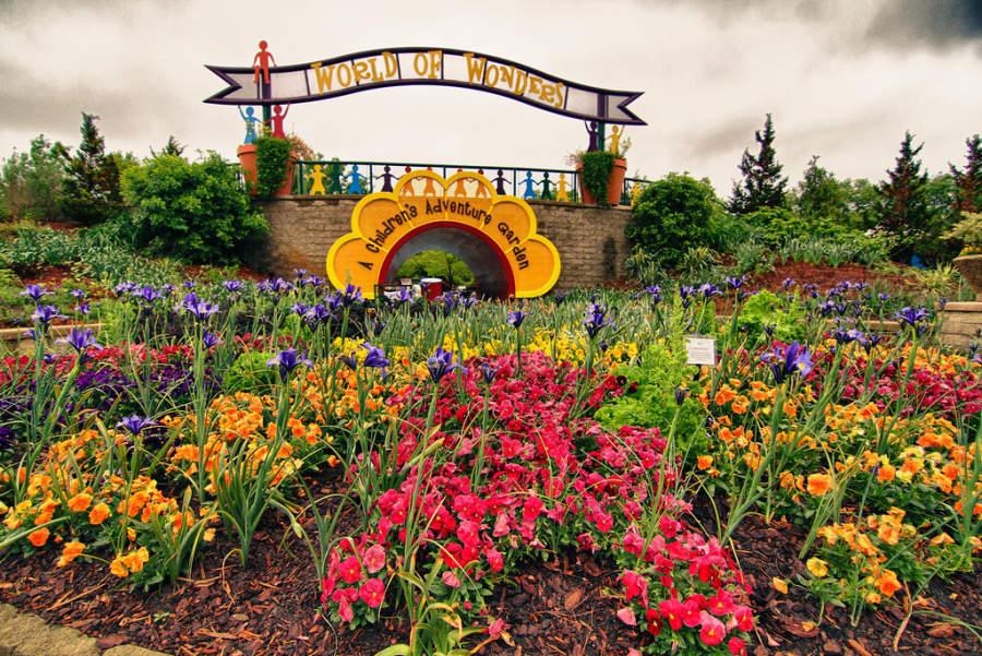 Variedad de flores en Norfolk Botanical Garden