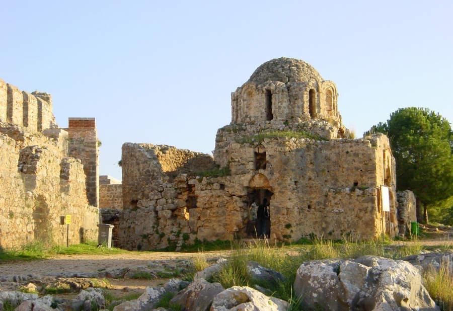 Restos de una iglesia del periodo bizantino