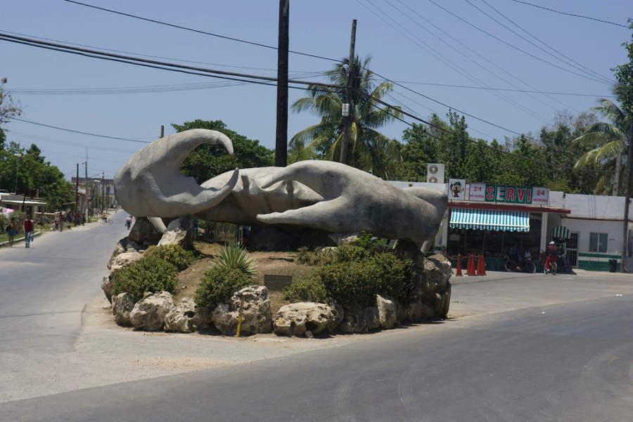 El Cangrejo de Caibarién, famosa escultura en la ciudad