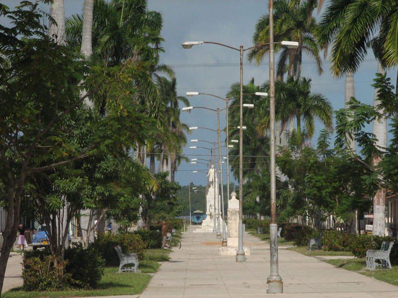 Paseo Martí, zona peatonal en Caibarién