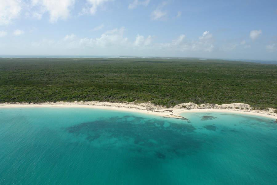 Playa Perla Blanca en el cayo Santa María