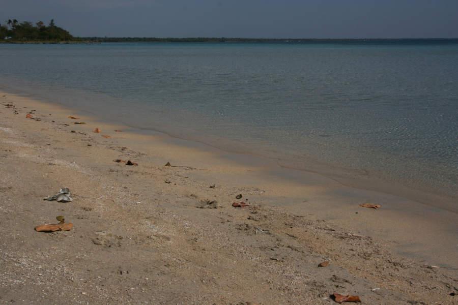 Playa de agua transparente en Playa Larga