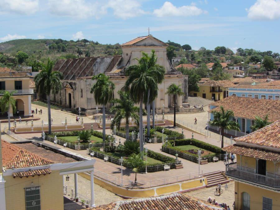 Vista de la Plaza Mayor en Trinidad