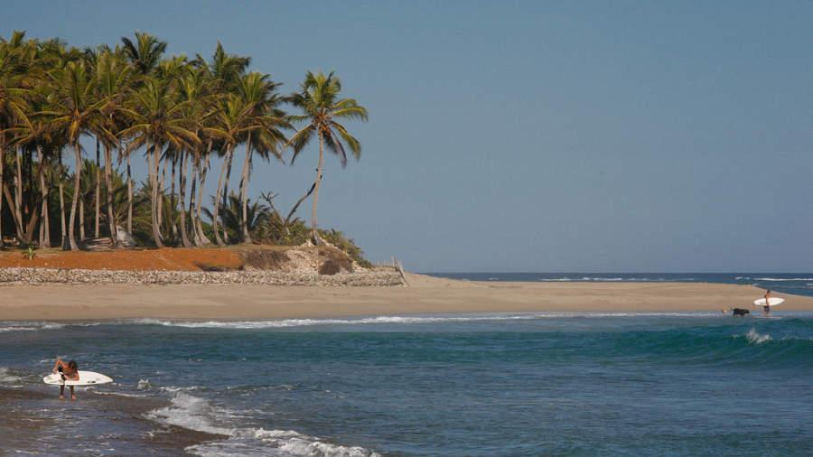 Playa en el pueblo de Cabarete