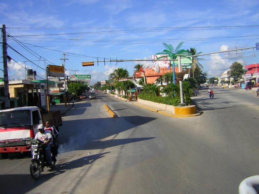 Vista del centro de la ciudad de Higüey