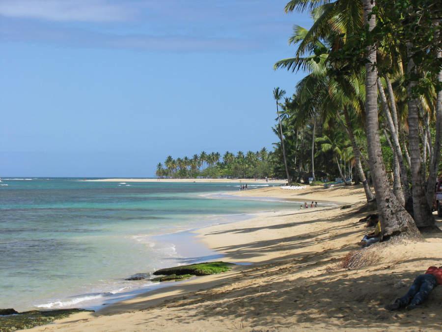 Las playas de Las Terrenas son ideales para descansar