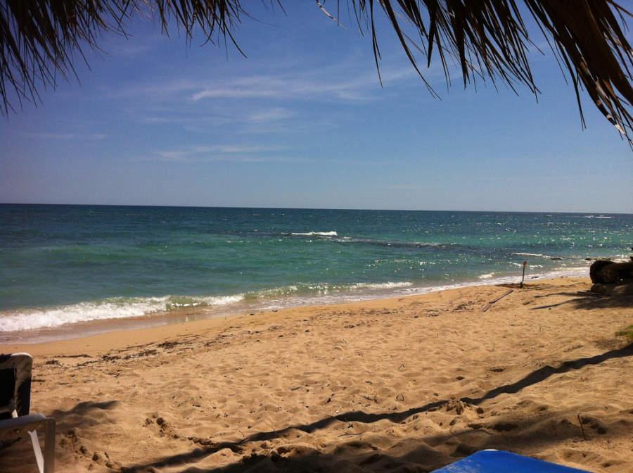 Vista de la playa en Juan Dolio