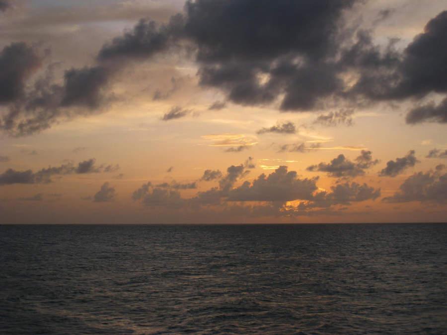 Atardecer en el mar de Cayo Coco