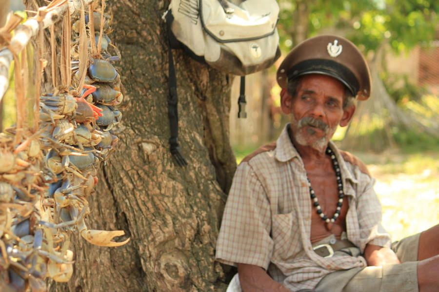 Vendedor de cangrejos en Baracoa