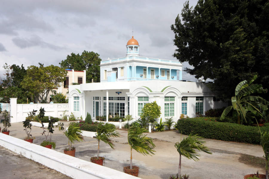 El Palacio Azul es un edificio histórico en Cienfuegos