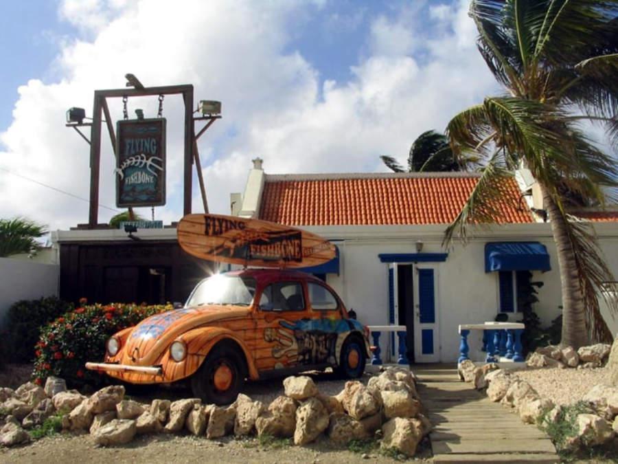 Savaneta tiene tiendas y restaurantes para turistas
