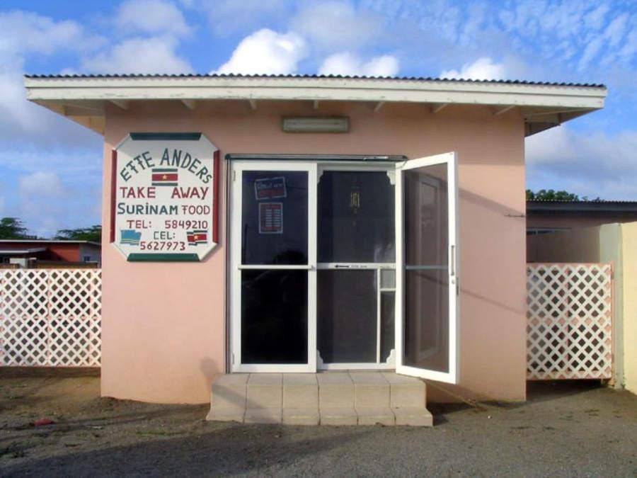 Restaurante en el área turística de Savaneta