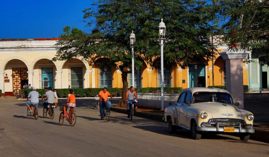 La bicicleta es un medio de transporte popular en San Juan de los Remedios