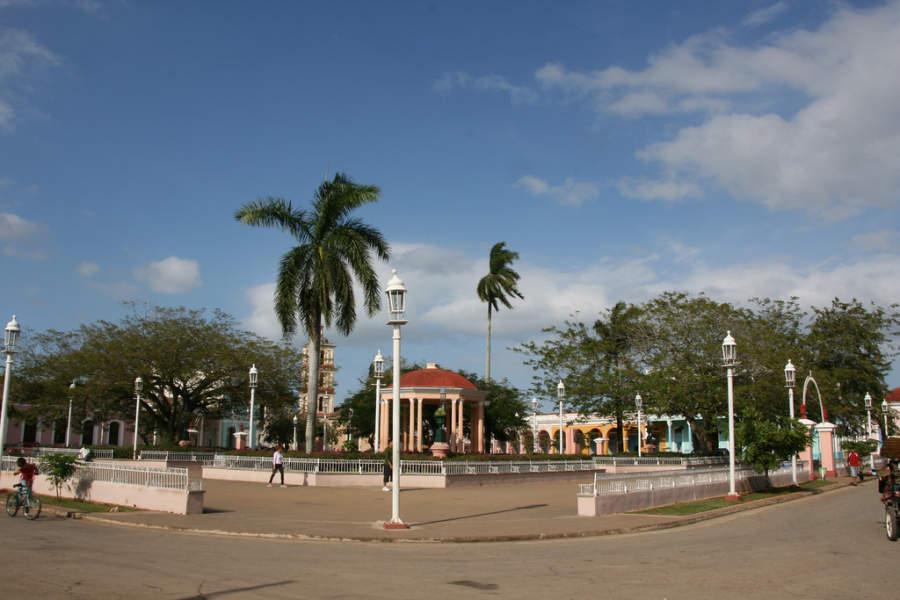 Vista del Parque Martí en San Juan de los Remedios