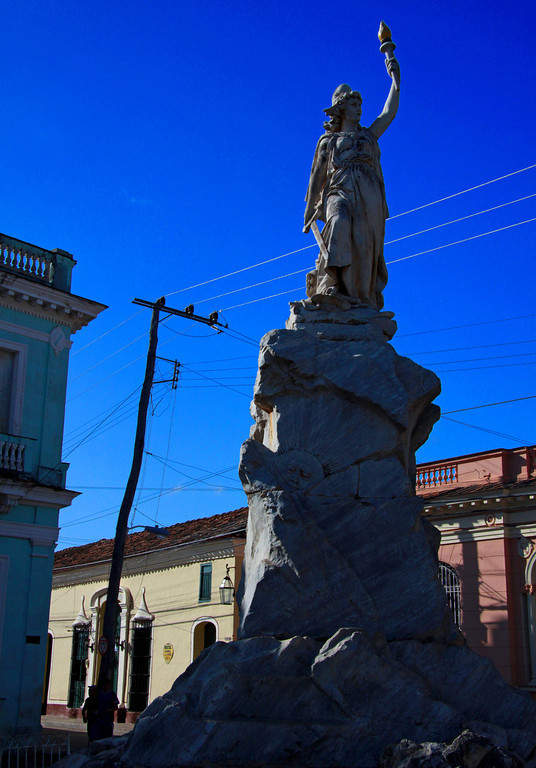 Estatua de la Libertad en San Juan de los Remedios