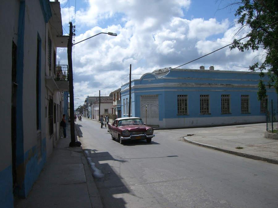 Fachadas de viviendas en Holguín