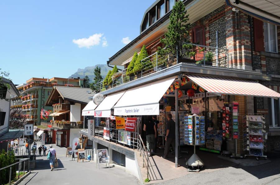 Tiendas de souvenirs en Grindelwald