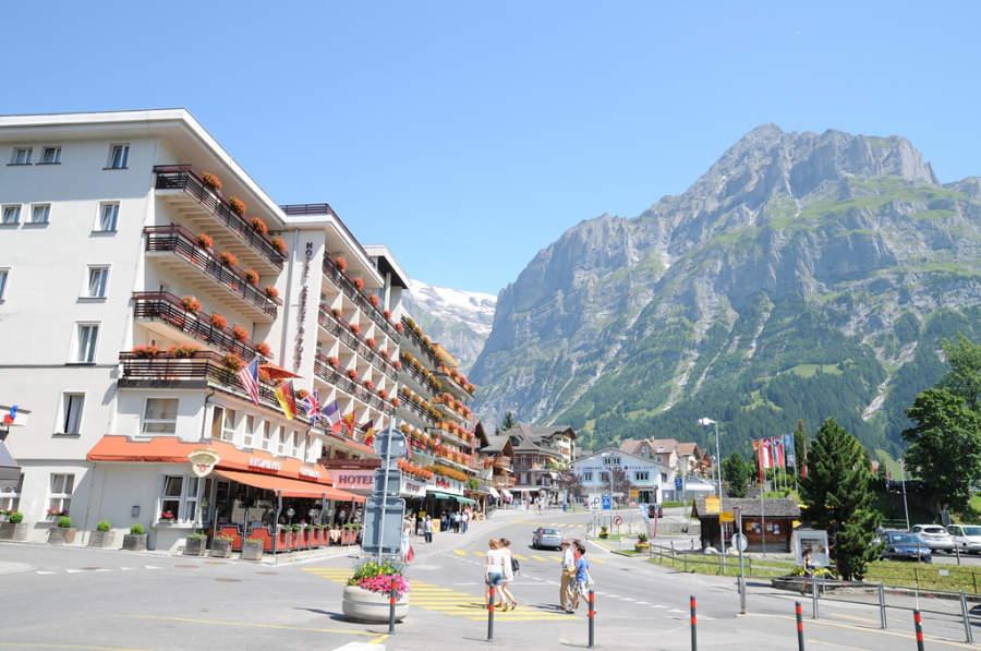 Centro de la ciudad de Grindelwald