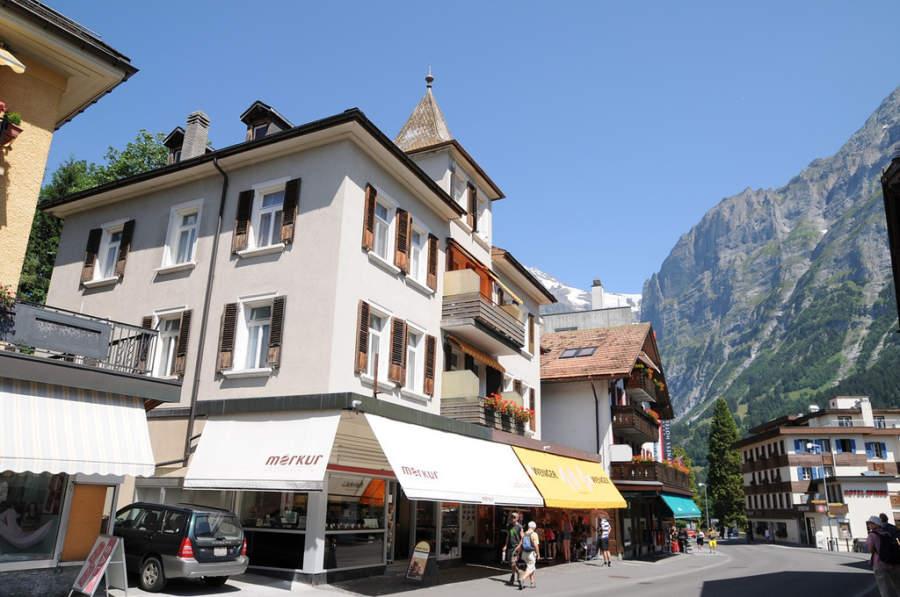 Calle comercial en Grindelwald