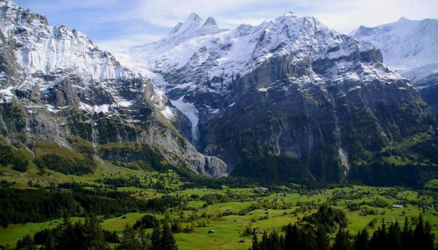 Paisaje montañoso de Grindelwald