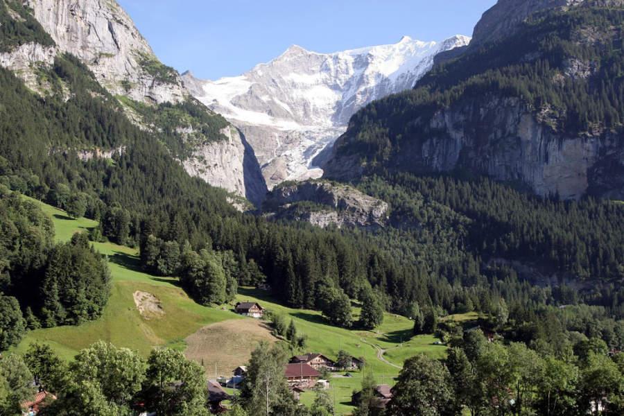 Paisaje de Grindelwald en verano