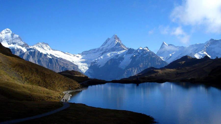 El lago Bachalpsee está en la parte alta de Grindelwald