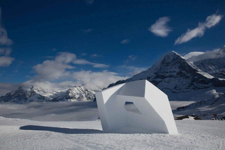 Escultura elaborada durante el World Snow Festival