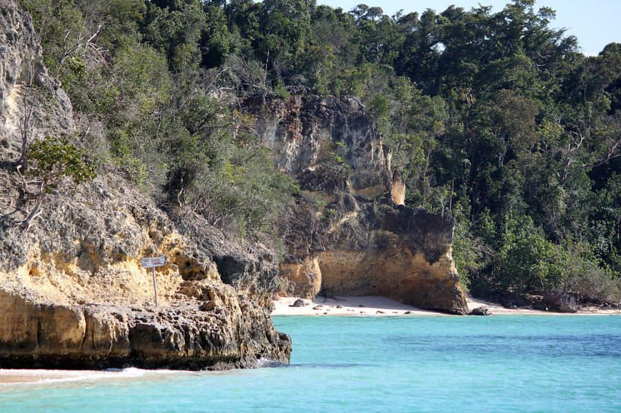 Playa en Cayo Saetía, una isla deshabitada