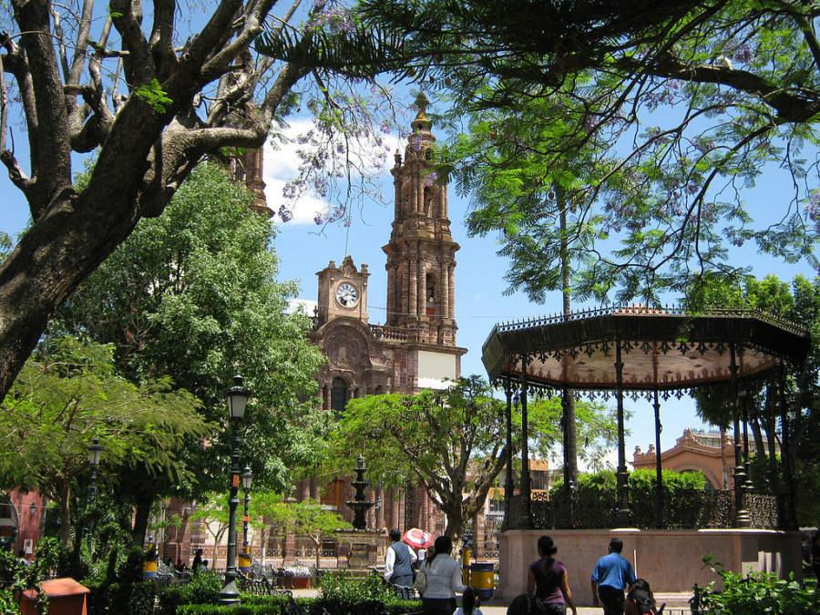 Plaza de Armas en el centro de Zamora