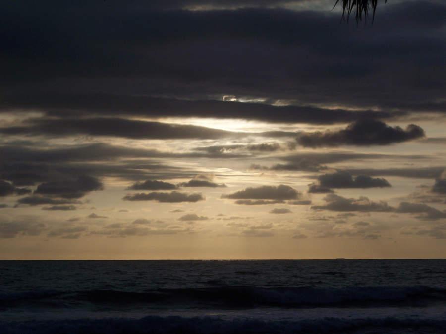 Atardecer en el mar de Nuevo Vallarta
