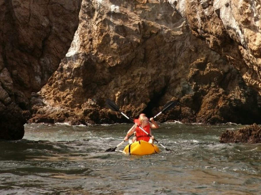Practica kayak en las Islas Marietas en Nuevo Vallarta