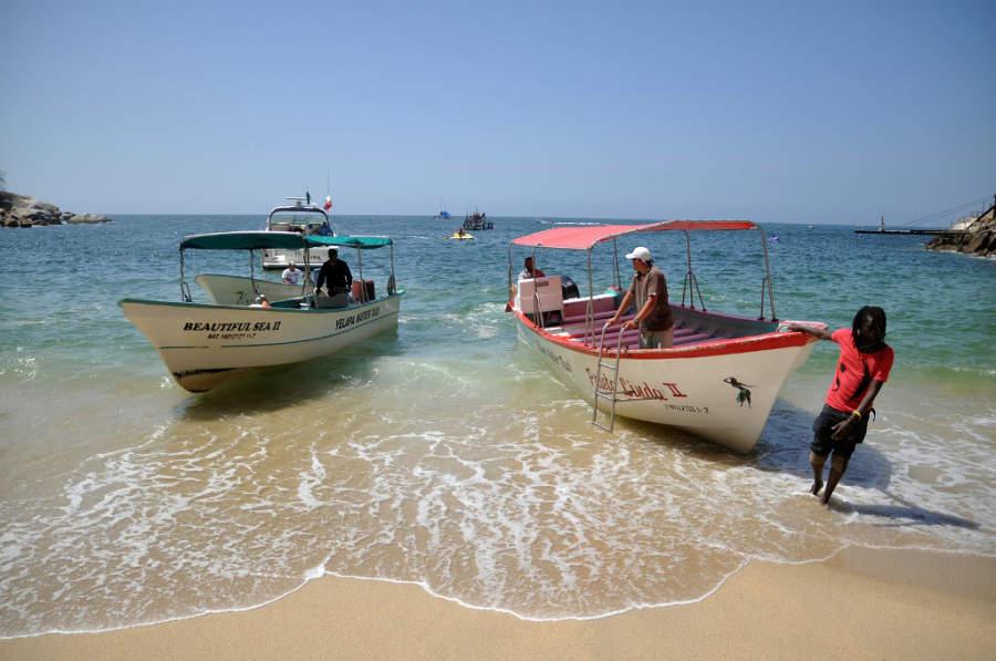 La mayoría de las playas de Nuevo Vallarta ofrecen paseos en lancha