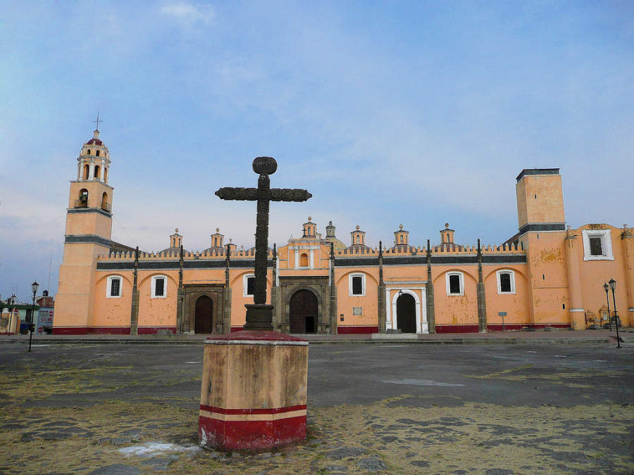 Exterior del Convento de San Gabriel, San Andrés Cholula