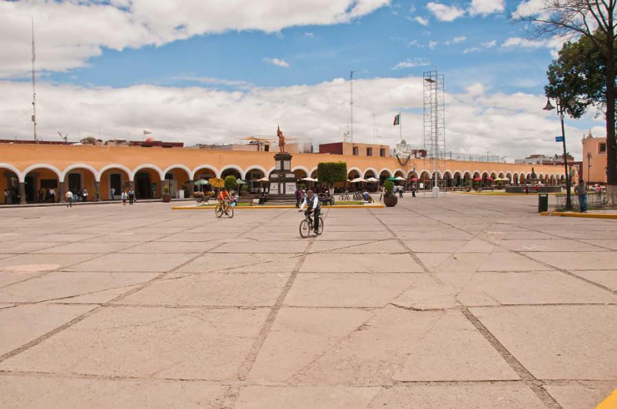 Zócalo de San Andrés Cholula ubicado en el centro histórico