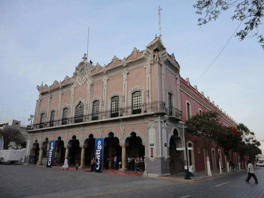 Fachada del Palacio Municipal de la ciudad de Tehuacán