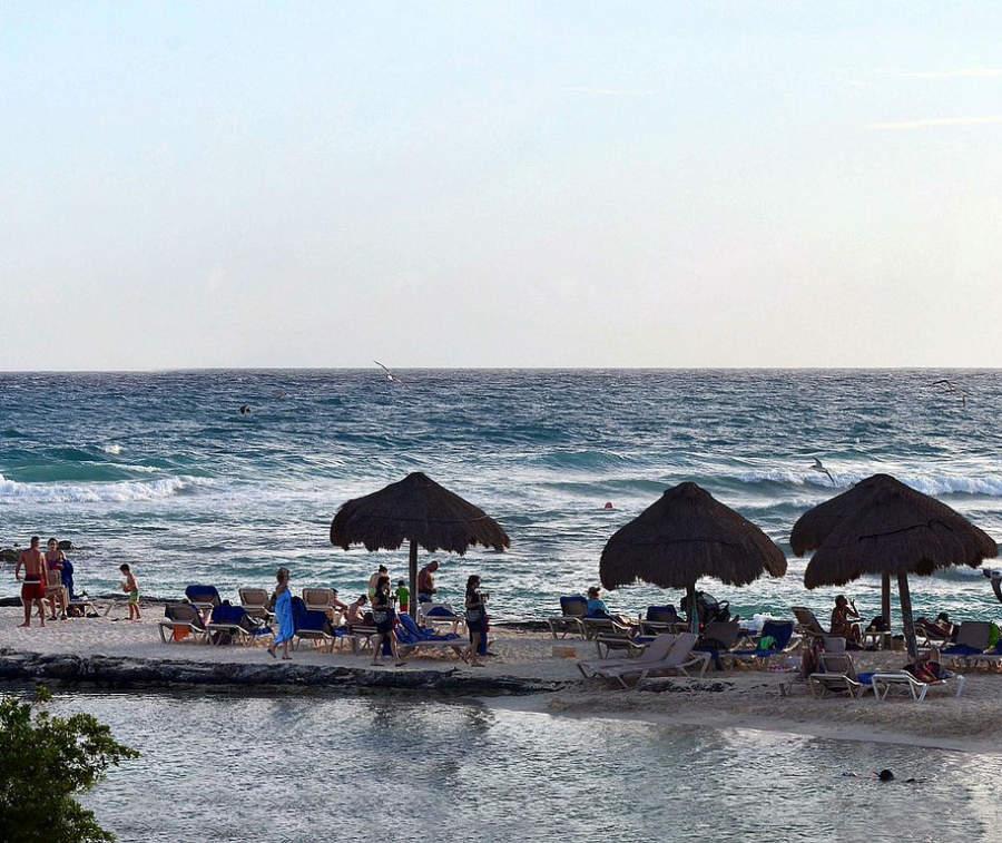 Club de playa de un hotel de Puerto Aventuras