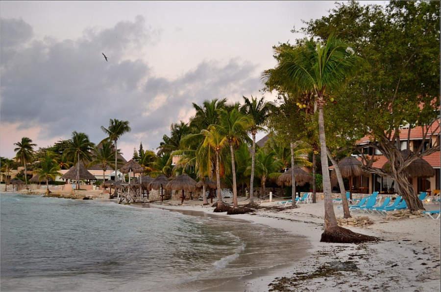 Otra de las playas en Puerto Aventuras