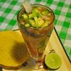 Abacate recheado com camarões,Playa del Carmen, Mexico